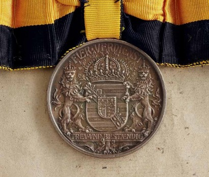 "Duke Carl Eduard Medal, Type I, in Larger Silver (stamped ""MAX V KAWACZYNSKI"")"