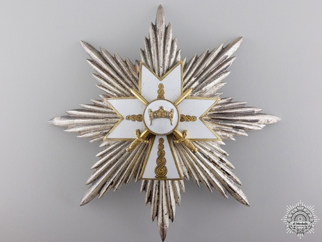 Grand Cross Breast Star (with swords) Obverse