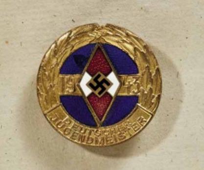 HJ Championship Badge, in Gold Obverse