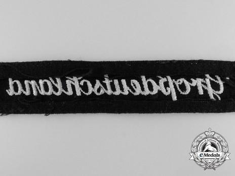 German Army Großdeutschland Cuff Title (Latin version) Reverse