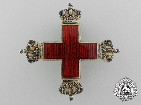 Red Cross Decoration, I Class Cross (pin back, in silver gilt)