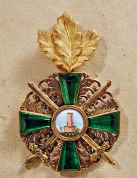 Order of the Zähringer Lion, Commander with Swords (with oak leaves)
