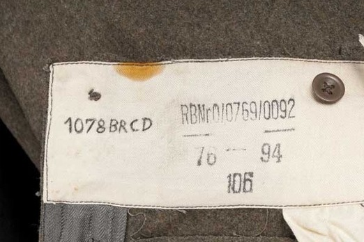 Waffen-SS NCO/EM's Trousers M44 Detail
