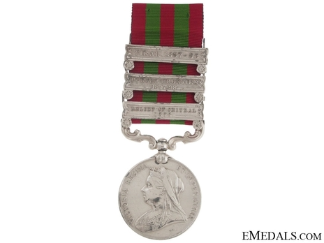 Silver Medal (with 3 clasps) (1896-1901) Obverse