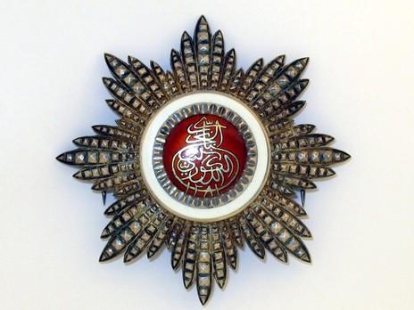 Order of the Brilliant Star of Zanzibar, Type VIII, I Class Breast Star Obverse
