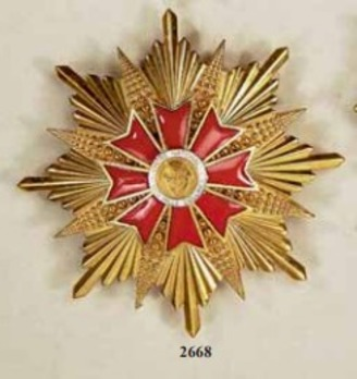 Order of the Thousand Hills, Grand Cross Breast Star