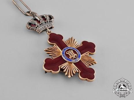Order of Carol I, Grand Officer's Cross Reverse