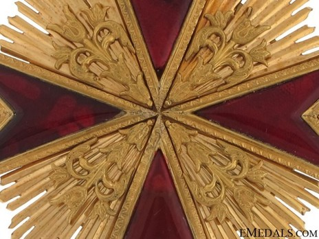 Grand Cross Breast Star (with bronze gilt) Obverse Detail