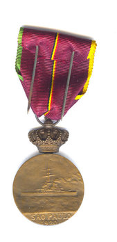 Commemorative Medal for the Royal Voyage to Brazile Reverse