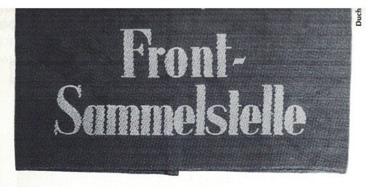 German Army Front Collecting Point Armband Obverse