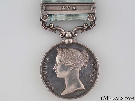 """Silver Medal (stamped """"W. WYON,"""" """"W.W.,"""" with """"AVA"""" clasp) Obverse"""