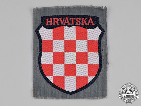 German Army Croatia Sleeve Insignia (1st version) Obverse