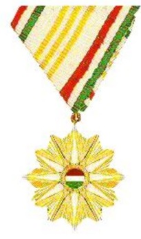 Order of the Star of the Hungarian Republic, III Class Obverse