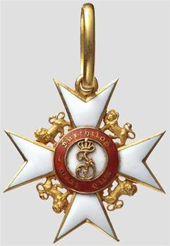 Civil Division, Knight's Cross (in gold, with lions, 1892-1918)