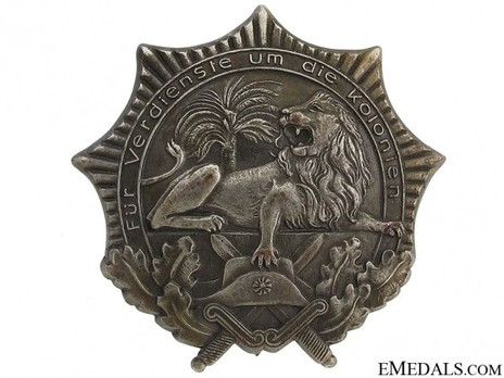 Colonial Award (Lion Order), I Class (in silver) Obverse