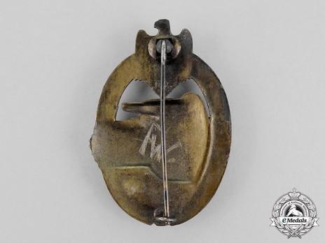 Panzer Assault Badge, in Bronze, by R. Karneth Reverse