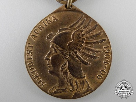 South Africa Campaign Medal, for Combatants (in bronze gilt) Obverse
