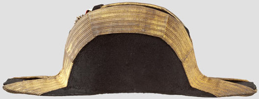 Kriegsmarine Admiral & Commodore Ranks Naval Fore-and-Aft Hat Left