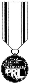 Decoration for Merit in the Transportation Industry, III Class Obverse