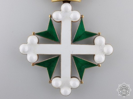 Order of St. Maurice and St. Lazarus, Grand Cross (in gold) Reverse