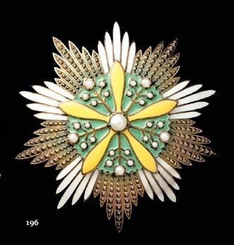 Grand Order of the Orchid Blossom, Grand Cordon Breast Star