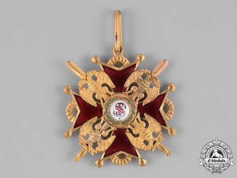 Type II, Military Division, III Class Badge (with swords, in gold)