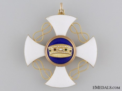 Order of the Crown of Italy, Grand Cross Obverse