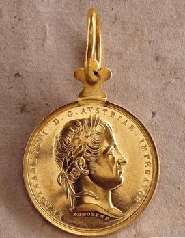 "Civil Honour Medal ""MERITIS"", Type I, III Class Gold"