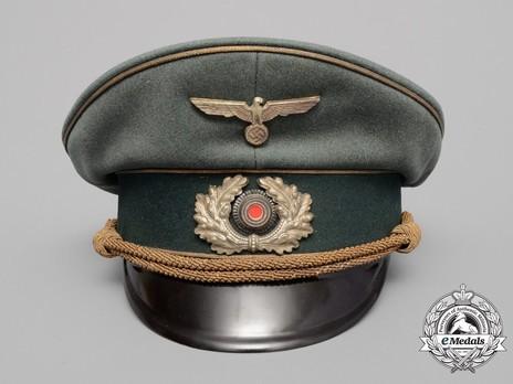 German Army General's Pre-1943 Visor Cap (with metal insignia) Front