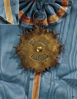 Order of the Propitious Clouds, I Class Sash Badge