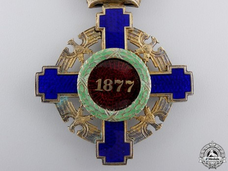 The Order of the Star of Romania, Type II, Civil Division, Grand Officer's Cross Reverse