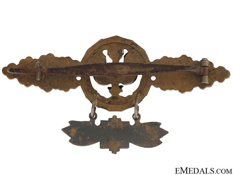 Long-Range Night Fighter Clasp, in Gold (with star pendant) Reverse