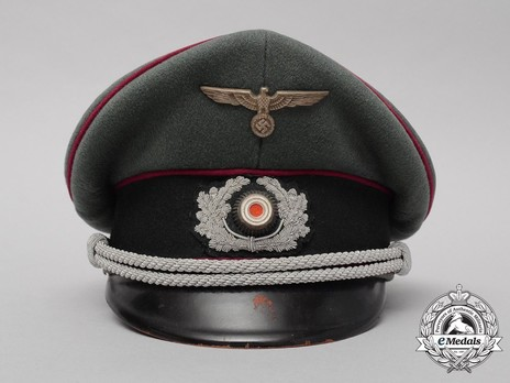 German Army Smoke & Chemical Officer's Visor Cap Front