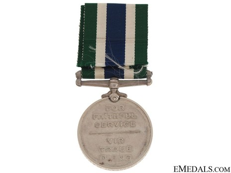 Police Good Service Medal Reverse