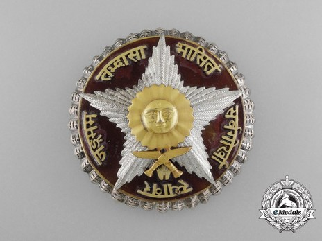 Order of the Gorkha Dakshina Bahu, I Class Breast Star Obverse