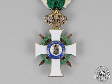 Albert Order, Type II, Military Division, I Class Knight (with crown & swords, in silver gilt, 1901-1918) Reverse