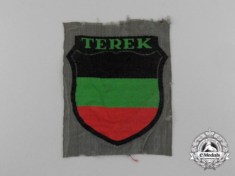 German Army Terek Cossacks Sleeve Insignia (1st version) Obverse
