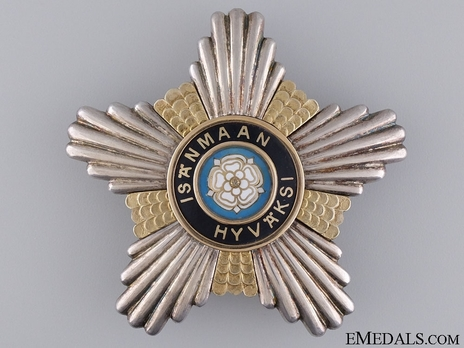 Order of the White Rose, Type I, Civil Division, I Class Commander Breast Star