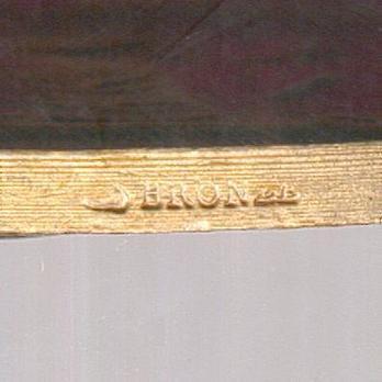 """Bronze Medal (stamped """"J VATINELLE"""") Detail"""