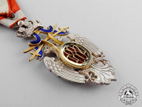 Order of the White Eagle, Type II, Military Division, V Class Reverse