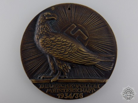 Honour Prize of the Minister of the Interior for the German Police Championships Obverse