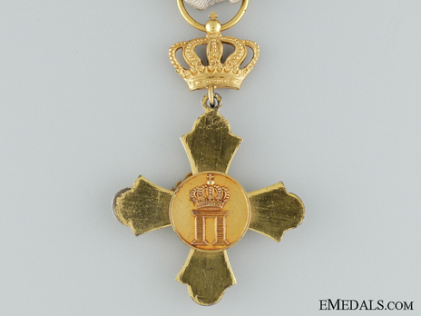 Order of the Phoenix, Type II, Military Division, Knight's Cross, in Gold Reverse