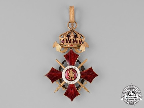 Order of Military Merit, Grand Cross (with war decoration) Reverse