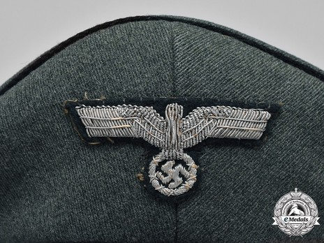 German Army Engineer Officer's Visor Cap Eagle Detail