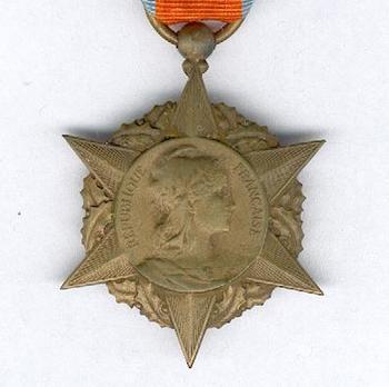 """Bronze Medal (stamped """"A. RIVET"""") Obverse"""