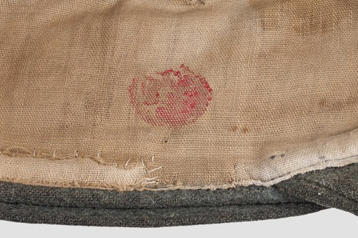 Waffen-SS NCO/EM's Mountain Cap (buckled version) Stamp Detail