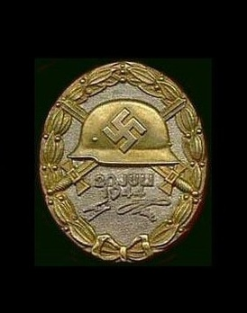 "Wound Badge ""20 July 1944"", in Gold Obverse"