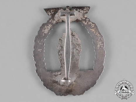 Minesweeper War Badge, by B. H. Mayer (in zinc) Reverse