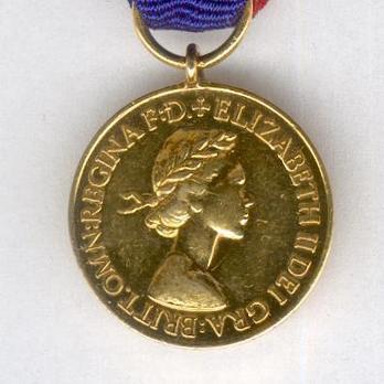 Miniature Gold Medal (1952-) Obverse