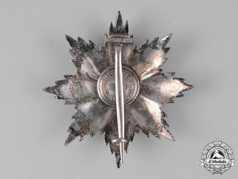 Order of San Marino, Type I, Civil Division, Grand Officer Breast Star Reverse